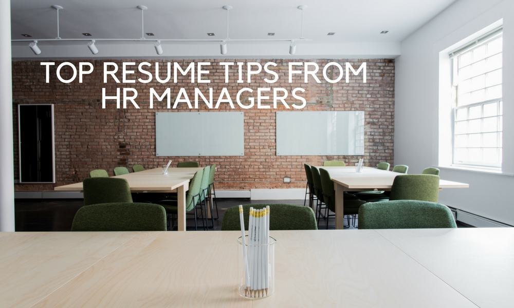 resume tips from HR
